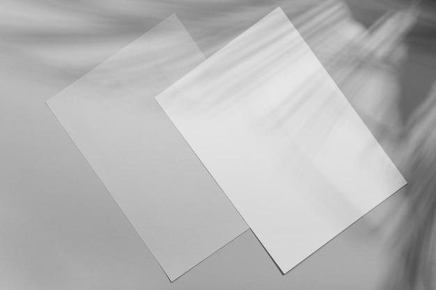 Minimalistic brochure overlay with vegetation shadow