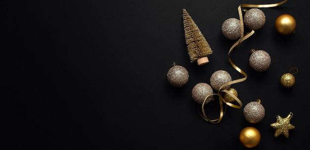 Minimalistic christmas flat lay
