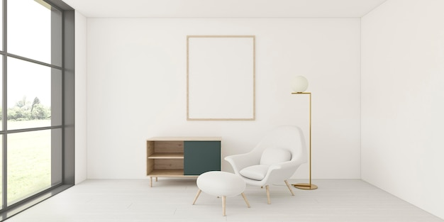 Minimalistic interior with elegant frame