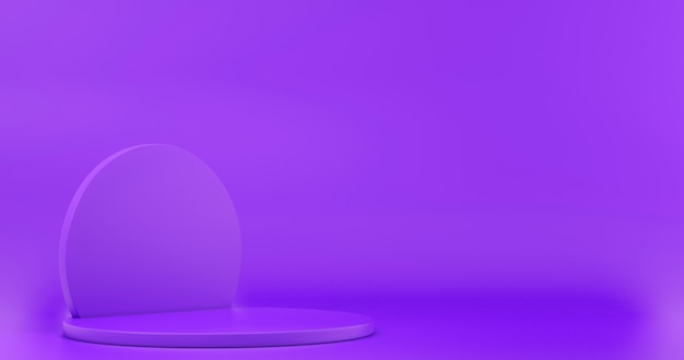 Minimalistic showcase with empty space. empty podium for display product. 3d rendering.