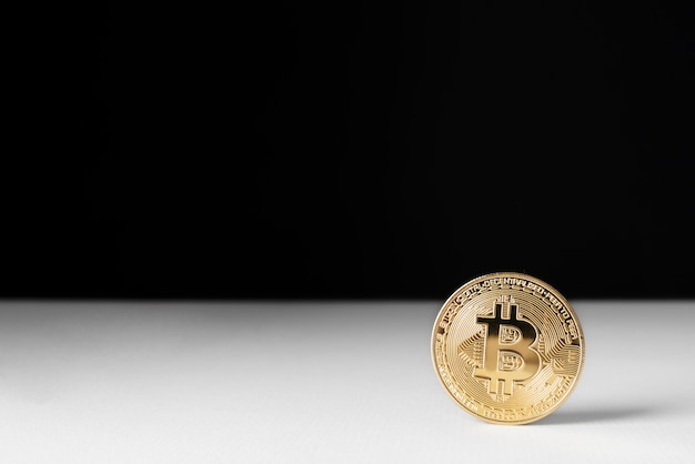 Minimalistic still life arrangement with cryptocurrency