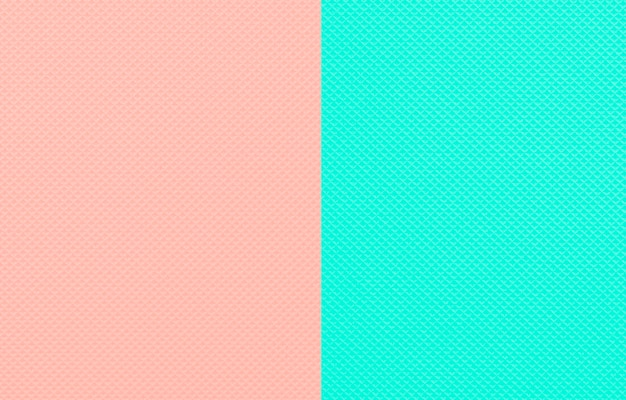 Minimalistic two-tone clean mint and peach color background.