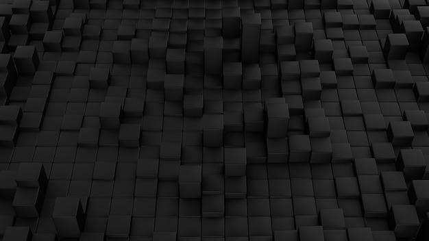 立方体で作られたミニマルな波の背景。