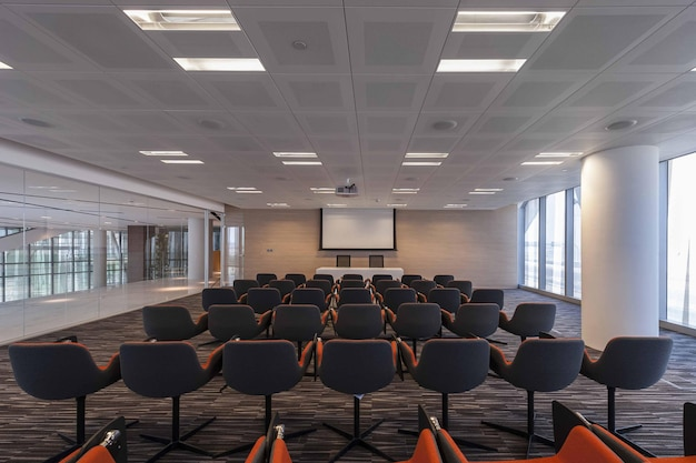 Minsk belarus – april 4, 2021: empty conference room in modern office