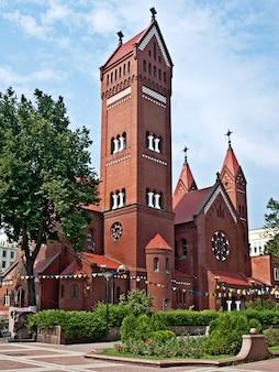 ミンスク、ベラルーシ。聖シモン教会とヘレナ教会