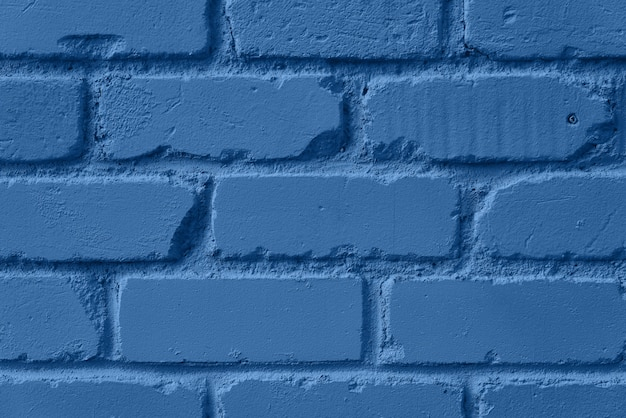 Mint brick wall texture. background with copy space for design. trendy blue and calm color.