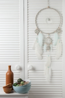 Mint cream dream catcher