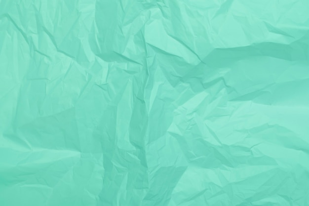 Mint crumpled paper texture, green background, wallpaper