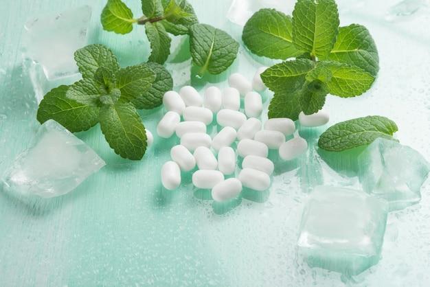 ミントと氷のミント糖衣錠
