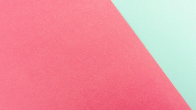 Mint green and pink paper sheets