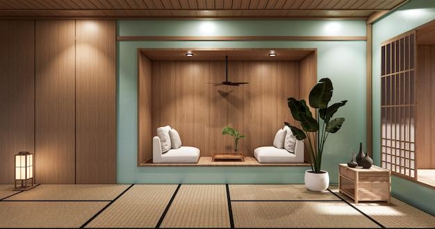 민트 미니멀 룸 일본식 디자인