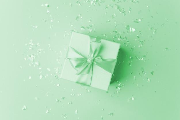 Mint pastel color gift box