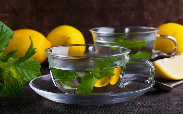 レモンとミントティー