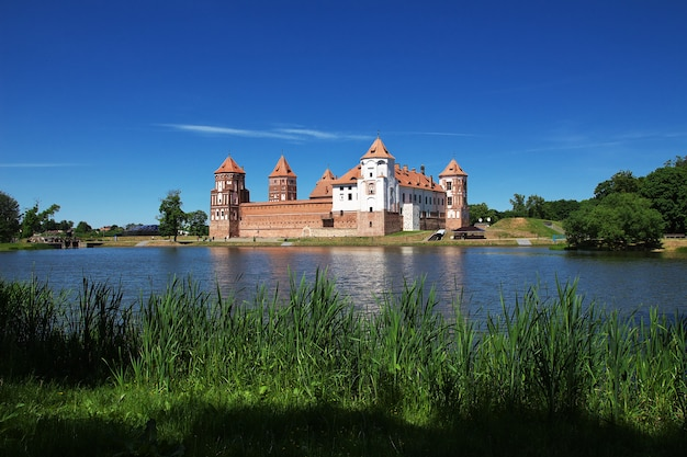 Mir castle in belarus country