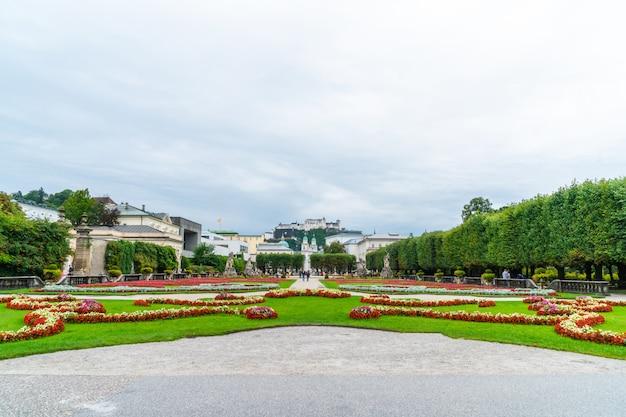 Mirabell garden in salzburg city