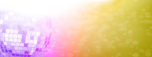 화려한 배경으로 미러 볼입니다. 밤 디스코. 노란색, 분홍색. 고품질 사진