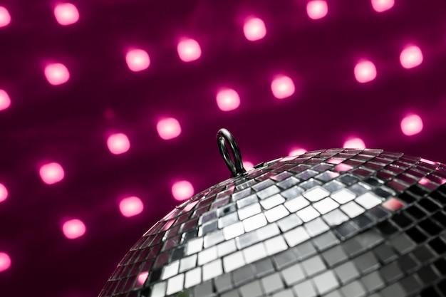 A mirror disco ball