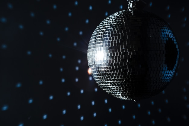 A mirror disco ball