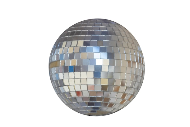 Mirrored sphere isolated on a white background. disco ball. high quality photo