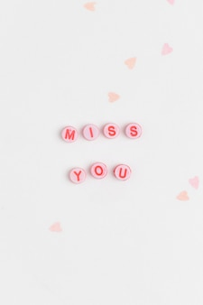 Miss you beads word typography