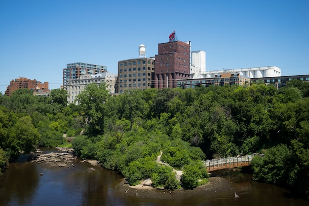 Mississippi river、minneapolis、hennepin county、minnesota、usaによる建物