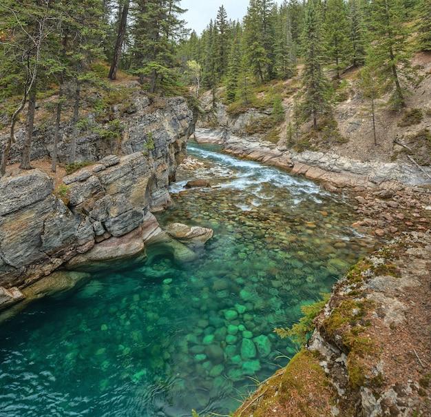 Mistaya canyon jasper national park alberta canada