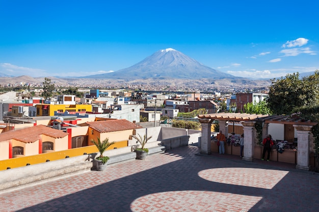Misti volcano in arequipa in peru