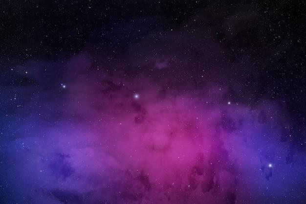 Misty and dark space nebula