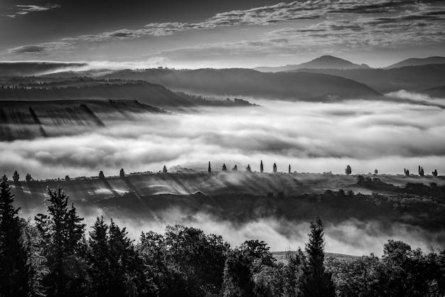 ヴァルドルチャの霧のかかった朝