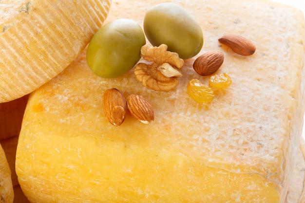 Mix cheese close up
