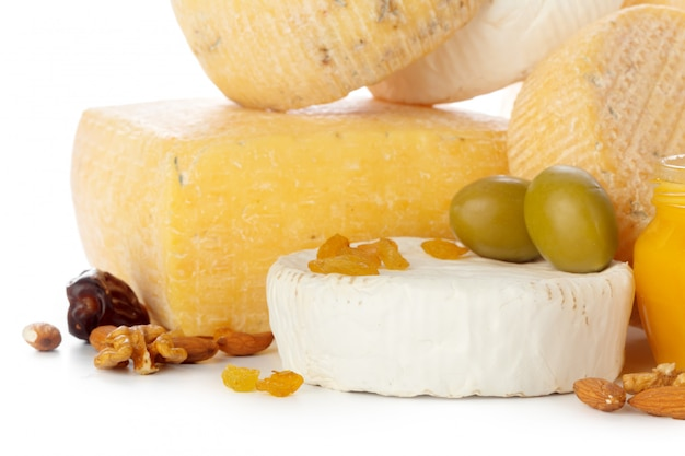 Mix cheese close up