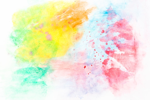 Mix of colorful watercolor