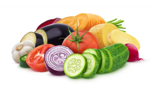 Mix of different vegetables