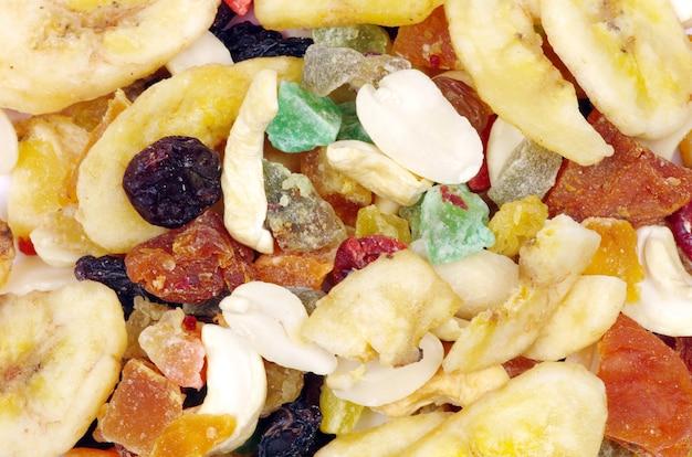 흰색에 말린 과일 컬렉션 믹스