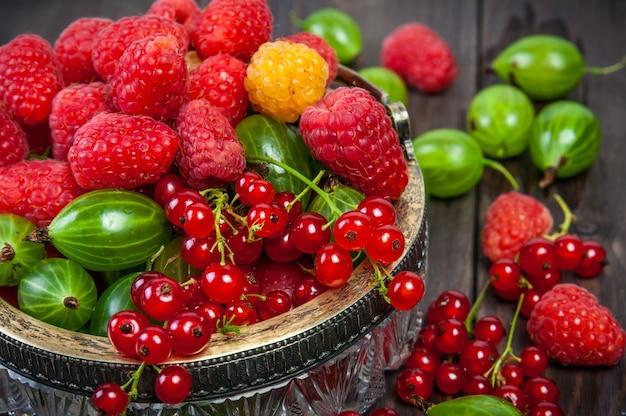Mix of fresh organic garden berries