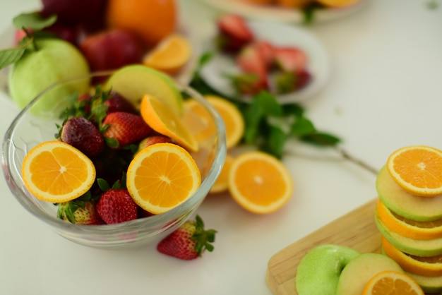Mix fruits.fresh fruits close up.healthy eating, dieting concept