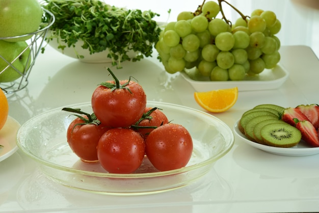 Mix fruits.fresh fruits close up.healthy eating, dieting concept.