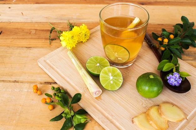 Mix herbal drinks extract vegetation