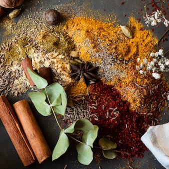 Mix of indian traditional spices
