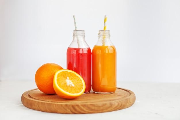 Mix juice. white background