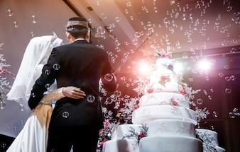 Mix modern musalim wedding ceremony to cutting cake