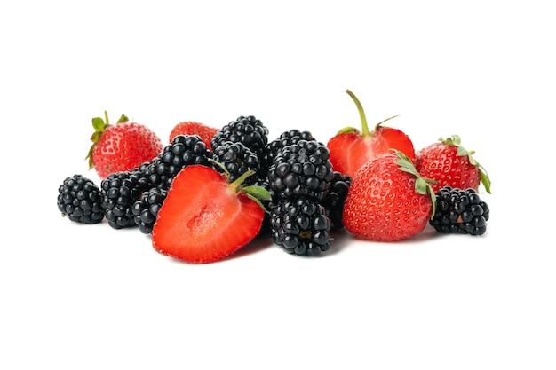 分離した新鮮な果実のミックス