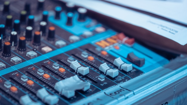 Mix sound studioコントロールパネル
