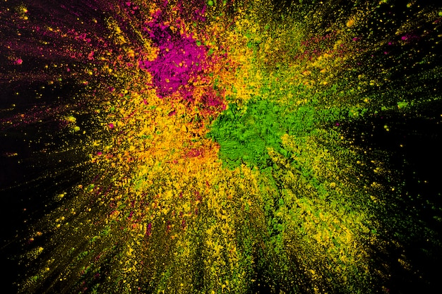 Mixed abstract holi powder backdrop