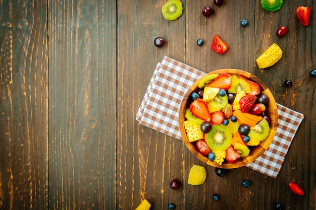 Mixed and assorted fruits
