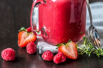 Mixed berry smoothie summer drink