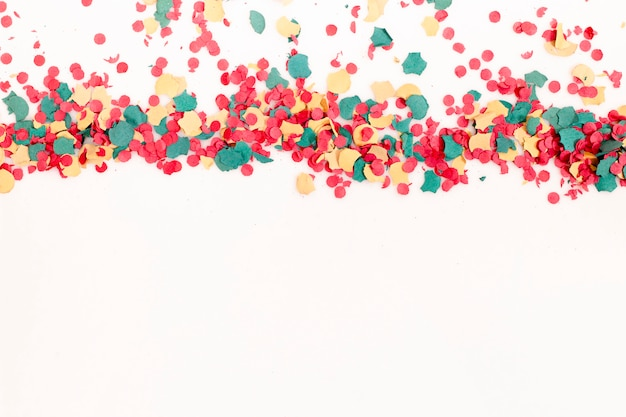 Mixed colorful confetti