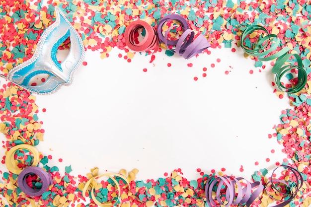 Mixed colorful confetti