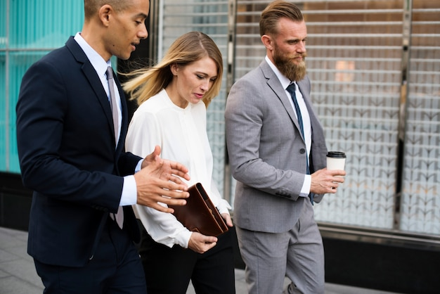 Mixed gender business people