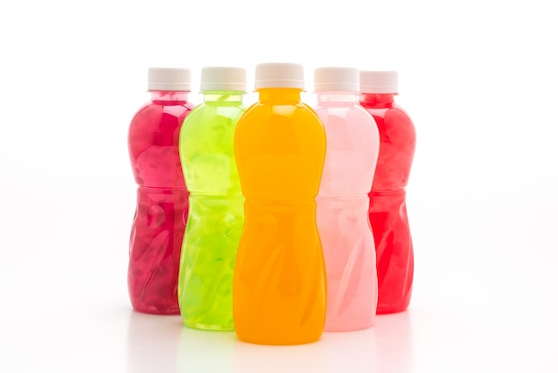 Mixed juice with nata de coco or coconut jelly
